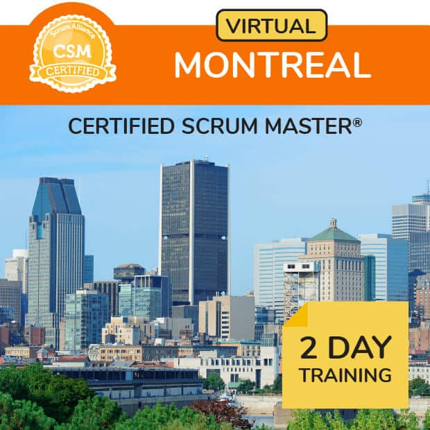 Online Certified Scrum Training® in Eastern time zone.