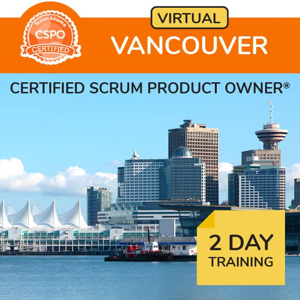 Online Certified Scrum Training® in Pacific time zone.