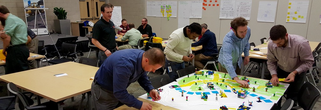 lego for scrum in progress